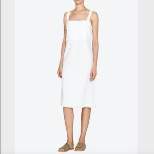 VENROY Linen Summer Dress - WHITE